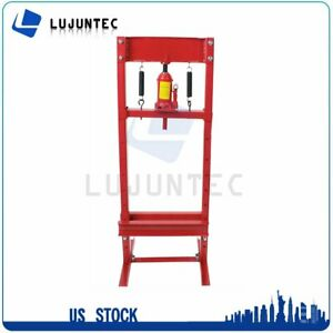Hydraulic Shop Press Plates 12 Ton Bench Top Mount H Frame Jack Stand Equipment