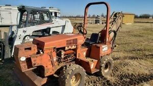 Ditch Witch 3500 Ride on Trencher Hydraulic Digger 4 way Blade 33hp Deutz Diesel