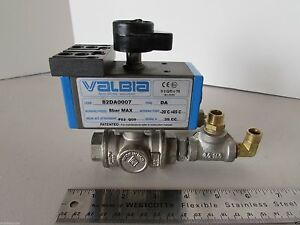 Valbia 82da0007 Pneumatic Actuated Stainless Ball Valve Lot Made In Italy