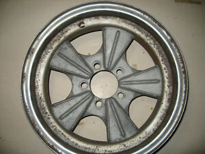 Fenton Style Wheel By Mickey Thompson 6 X 15 Ford Pattern Steel Alum Center