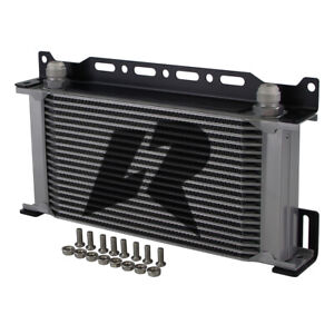 Lr Mocal Type An10 19 Row Engine Oil Cooler W 248mm Mounting Bracket Kit Silver