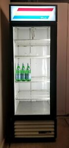 True Gdm 23 Single Door Refrigerator Cooler Merchandiser Glass Door Used