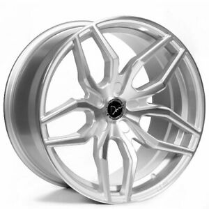 20 Staggered Donz Wheels Riina Silver Rims Fit Ford Mustang Shelby Gt350