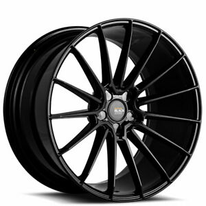4 20x10 20x11 Staggered Savini Wheels Bm16 Gloss Black Rims b8