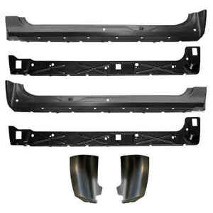 Inner Outer Rocker Panel Cab Corner Kit For 07 13 Chevy Gmc Pickup Silverado