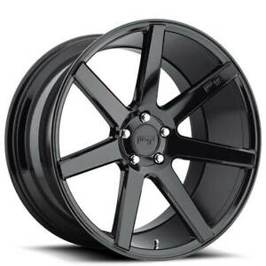 4 19 Staggered Niche Wheels M168 Verona Gloss Black Rims b12