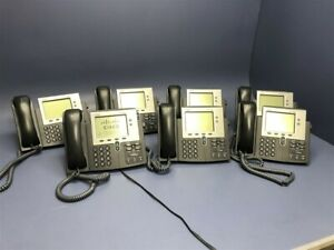 Lot Of 7 Cisco Ip Phones 7900 Series Phone Cp 7941g ge