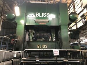 Bliss 1 000 Ton Stamping Press W 72 X 120 Bed