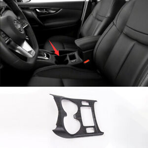 For Nissan Qashqai 2016 2019 Dx Wood Grain Central Console Water Cup Cover Trim