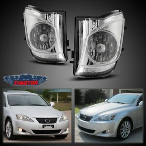 Fit 06 10 Lexus Is Pair Bumper Fog Light Lamp Oe Fit Replacement Dot Clear Lens
