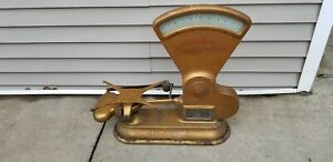 Large Antique Gold 1906 Toledo Candy Scale General Grocery Store