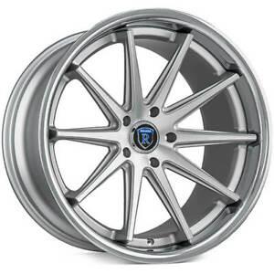 4 20 Staggered Rohana Wheels Rc10 Machined Silver Rims b31