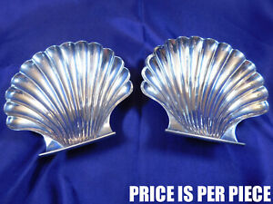 Unknown Maker Footed Shell Sterling Silver Candy Trinket Dish 84 Very Good U