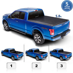 5 8 Ft For 2004 2019 Silverado Sierra 1500 Roll Up Truck Bed Tonneau Cover