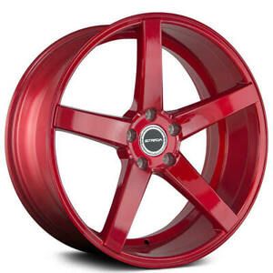 4 20 Strada Wheels Perfetto Candy Red Rims b31