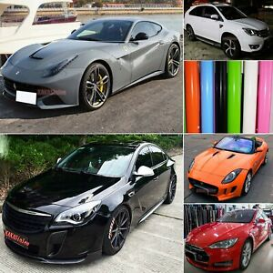 Smooth Stretch Glossy Flat Bright Car Paint Vinyl Wrap Sheet Sticker Air Free Us