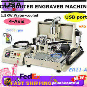 6040 4axis Cnc 1 5kw 3d Router Engraving Usb Port Machine Metal Milling Machine