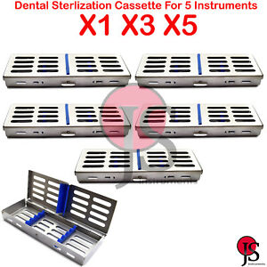 Autoclave Sterilization Cassette Tray Rack For 5 Dental Surgical Instruments