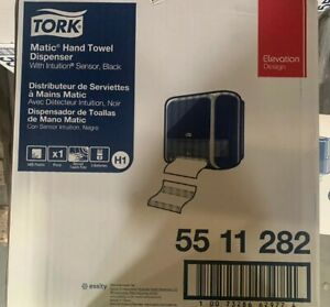 Tork 55 11 282 Elevation Matic Hand Towel Roll Dispenser Black New