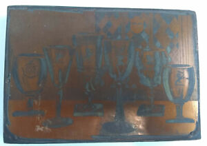 Large Letter Press Block Wood And Copper 5 1 2x4x1