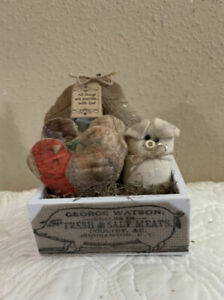 Primitive Grungy Pig Gathering Shelf Sitter All Things Are Possible With God