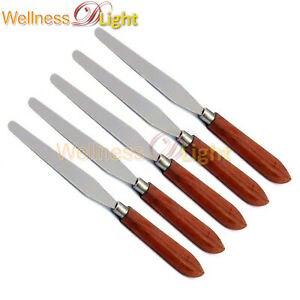 5 Pcs Dental Flexible Spatula Knife Plaster Wax Carver Dentist Lab Instruments