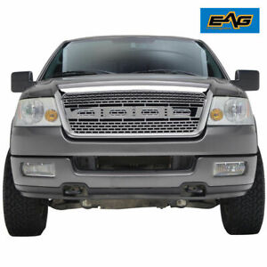 Eag Replacement Grille Upper Full Front Hood Grill Fit 04 08 Ford F150 Chrome