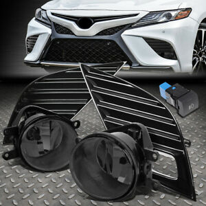 For 18 20 Toyota Camry Se Xse Bumper Driving Fog Lights W Bezel Switch Smoked