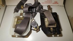 84 88 Toyota Truck Pickup Extra Extended Cab Seat Belt Latches Buckles Gray Pair