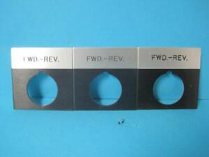 Lot Of 3 New Siemens Fwd Rev Forward Reverse Tag label For Switch 2 5 X 2 5