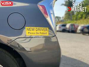 New Driver Please Be Patient Magnet Or Bumper Sticker Car Laminated Jdm Slammed