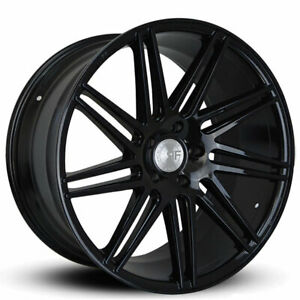 4 22 Staggered Road Force Wheels Rf11 1 Gloss Black Rims B31