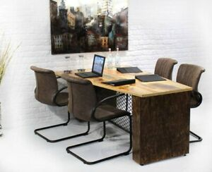 Conference Table Executive Desk Reclaimed Wood Industrial Office Furniture
