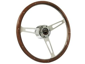 1965 1970 Ford Falcon S6 Classic Wood Steering Wheel Kit Falcon 3d Emblem