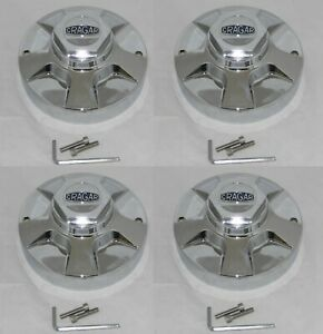 4 Cap Deal Cragar 390 Series Chrome Wheel Rim A 390hk Center Cap With Screws