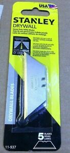 Stanley 11 937 Drywall Utility Blades Full Case Of 1000 20 Boxes Of 50 Cards