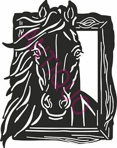 Dxf File Cnc Vector Dxf Plasma Router Laser Cut Dxf cdr Files Horse Wall Decor