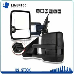 Pair For 2014 2018 Chevy Gmc 1500 Power Heated Side Signal Towing Mirrors