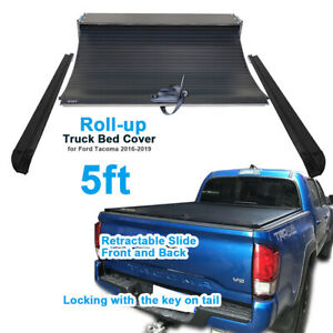 Retractable roll up Hard Tonneau Cover For Toyota Tacoma 2016 2019 5ft Short Bed