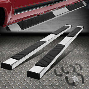 For 05 20 Toyota Tacoma 5 Chrome Ss Crew Cab Flat Side Step Bar Running Boards