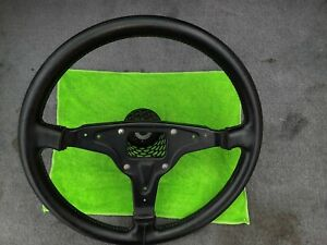 Porsche 924 944 Leather Steering Wheel With Hub Adapter As Seen In Pictures