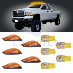 5x Roof Running Light base Amber Cab Marker for Gmc chevy T10 Warm White Led