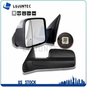 Pair For 02 08 Dodge Ram Truck Power Heated Turn Signal View Side Towing Mirrors