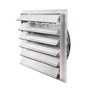 Hessaire Exhaust Fan Vent Power Shutter Mounted Variable Speed 24 Inch 4600 Cfm