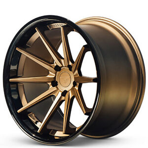 4 19x8 5 Ferrada Wheels Fr4 Matte Bronze With Gloss Black Lip Rims b6