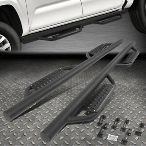 For 05 20 Toyota Tacoma Double Cab Round Tube Drop Step Nerf Bar Running Board