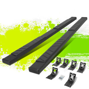 5 Flat Style Coated Step Bar Running Boards For Dodge Ram 1500 Quad Cab 09 20
