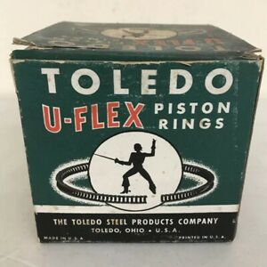 Nos Box Of Toledo U flex Piston Rings Uf1012 Std 6 Sets Antique Car Auto Parts