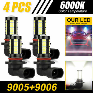 4pcs 6000k White 3157 3156 27 Smd Led Tail Brake Stop Backup Reverse Light Bulbs