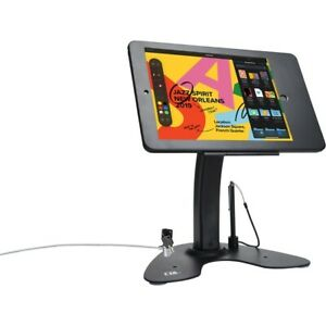 Cta Dual Security Kiosk Stand With Locking Case cable For 10 2 Ipad Black